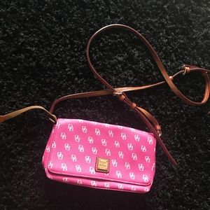 Small Pink And White Dooney & Bourke Purse